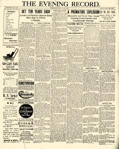 Greenville Evening Record newspaper archives