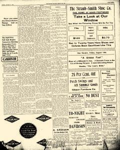 Greenville Evening Record, August 14, 1908, p. 3