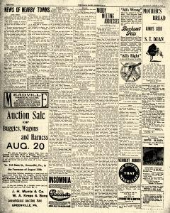 Greenville Evening Record, August 19, 1908, p. 4