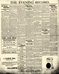 Greenville Evening Record, October 23, 1908, Page 1
