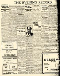 Greenville Evening Record, December 07, 1908, Page 1