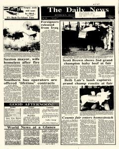 Huntingdon Daily News, August 16, 1990, Page 1