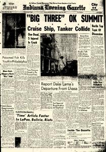 Indiana Evening Gazette, March 26, 1959, Page 1
