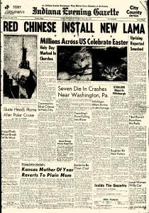Indiana Evening Gazette, March 28, 1959, Page 1