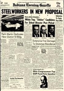 Indiana Evening Gazette, October 16, 1959, Page 1