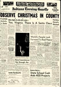 Indiana Evening Gazette newspaper archives