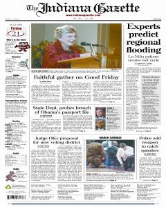 Indiana Gazette, March 21, 2008, Page 1