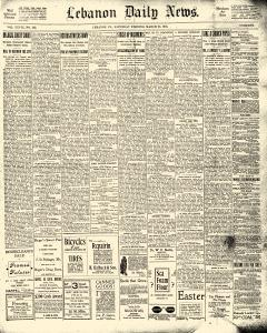 Lebanon Daily News, March 23, 1901, Page 1