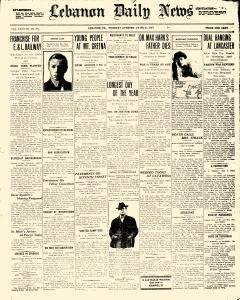 Lebanon Daily News, June 21, 1910, Page 1