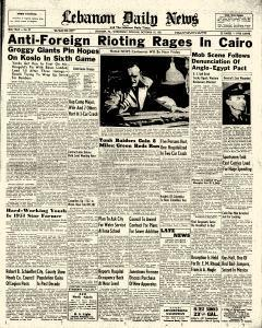 Lebanon Daily News, October 10, 1951, Page 1