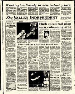 Monessen Valley Independent, January 09, 1986, Page 1