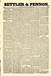 Settler And Pennon, March 23, 1844, Page 1