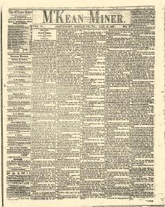 Smethport M Kean Miner, January 12, 1867, Page 1