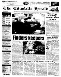 Titusville Herald , April 12, 2004, Page 1