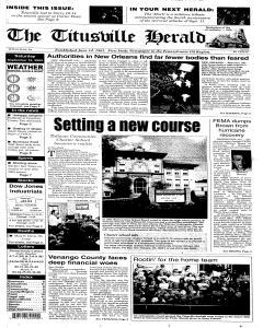 Titusville Herald, September 10, 2005, Page 1