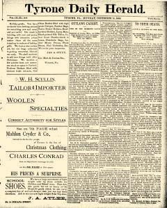 Tyrone Daily Herald, December 16, 1889, Page 1