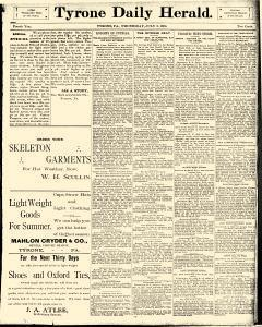 Tyrone Daily Herald, July 09, 1890, Page 1