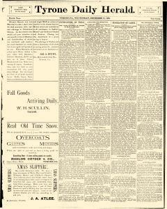 Tyrone Daily Herald, December 10, 1890, Page 1
