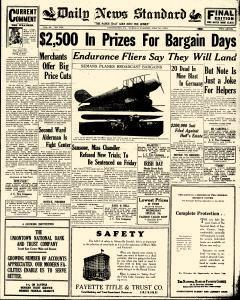 Daily News Standard, July 30, 1929, Page 1