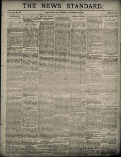 Uniontown News Standard, November 23, 1893, Page 1