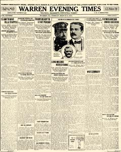 Warren Evening Times, March 14, 1916, Page 1