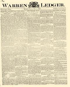 Warren Ledger, May 01, 1885, Page 1