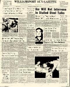 Williamsport Sun Gazette, August 12, 1959, Page 1