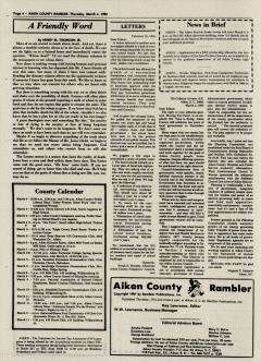 Aiken County Rambler, March 04, 1982, Page 5