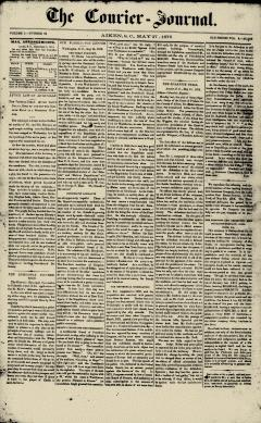 Aiken Courier Journal, May 27, 1876, Page 1