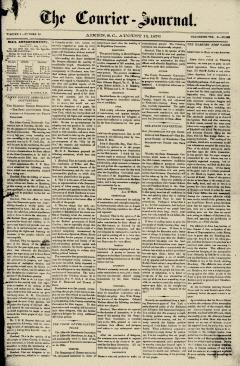 Aiken Courier Journal, August 12, 1876, Page 1