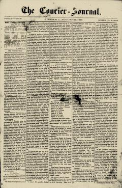 Aiken Courier Journal, August 24, 1876, Page 1