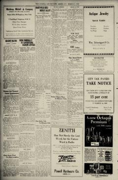 Aiken Journal and Review, March 12, 1930, p. 2