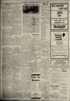Aiken Journal and Review, July 30, 1930, p. 2