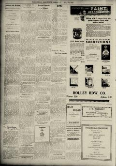 Aiken Journal and Review, July 30, 1930, p. 6