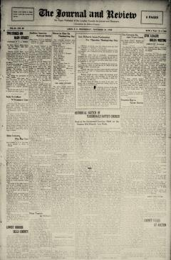 Aiken Journal And Review, November 26, 1930, Page 1