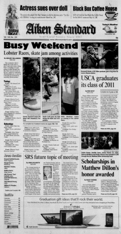 Aiken Standard, May 06, 2011, Page 1