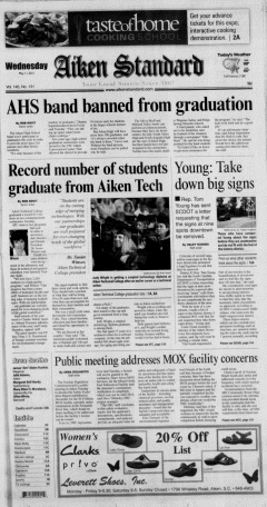Aiken Standard, May 11, 2011, Page 1