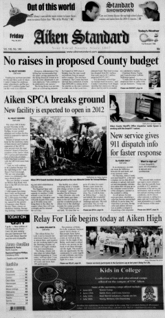Aiken Standard, May 20, 2011, Page 1