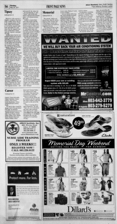 Aiken Standard, May 29, 2011, Page 16