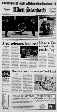 Aiken Standard, May 31, 2011, Page 1
