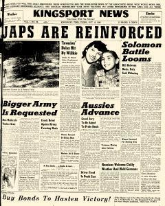 Kingsport News, October 15, 1942, Page 1