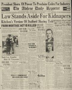 Abilene Daily Reporter, May 27, 1935, Page 1