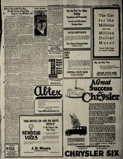 Abilene Morning Reporter, January 04, 1925, Page 21