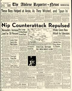 Abilene Reporter News, March 02, 1944, Page 1