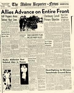 Abilene Reporter News, June 09, 1944, Page 1