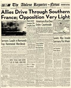 Abilene Reporter News, August 16, 1944, Page 1