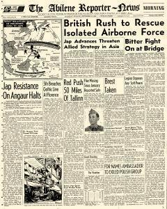Abilene Reporter News, September 21, 1944, Page 1