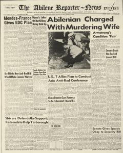 Abilene Reporter News, August 14, 1954, Page 1
