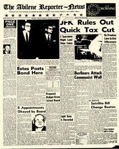 Abilene Reporter News, August 14, 1962, Page 1