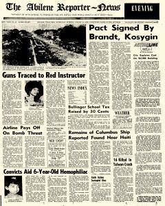 Abilene Reporter News, August 12, 1970, Page 1